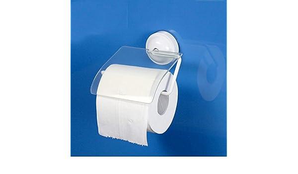 SDKKY-Sostenedor de papel higiénico cubierto para superior resistente al agua, polvo de succión taza toallero, Portarrollos, libre de adhesivo, ...