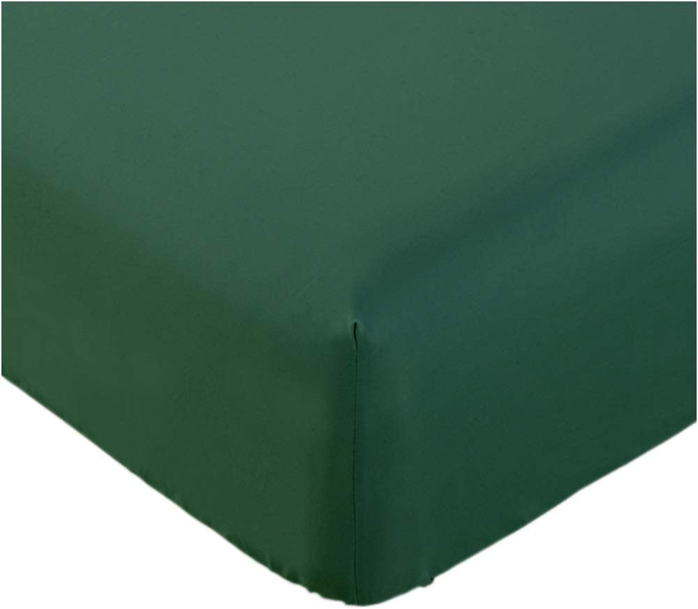 Mellanni Fitted Sheet Cal-King Emerald-Green - Brushed Microfiber 1800 Bedding - Wrinkle, Fade, Stain Resistant - Hypoallergenic - 1 Fitted Sheet Only (Cal King, Emerald Green)