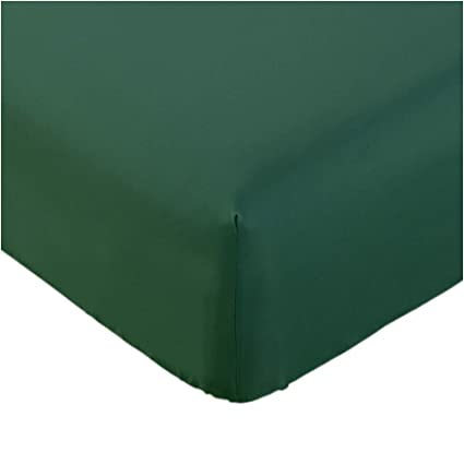 Mellanni Fitted Sheet Queen Emerald-Green Brushed Microfiber 1800 Bedding -  Wrinkle, Fade, Stain Resistant - Hypoallergenic - (Queen, Emerald Green)
