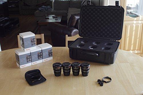 Veydra V1-16253550LENSKITCASEI Mini Prime 4 Lens Kit with 6 Lens Case with Manual Focus, Black