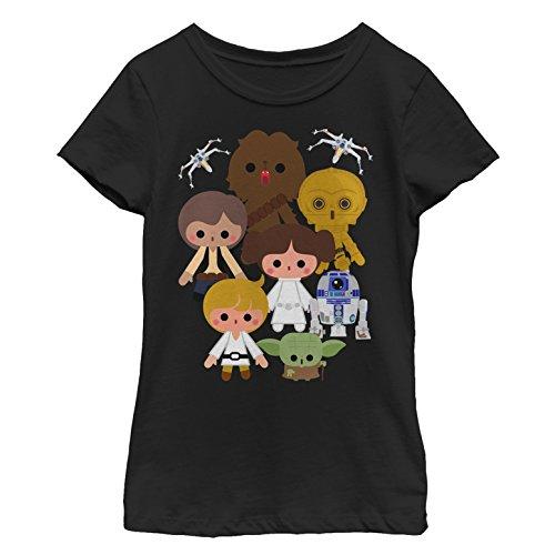 Star Wars Girls' Big, Black//Heroes Kawaii Small -