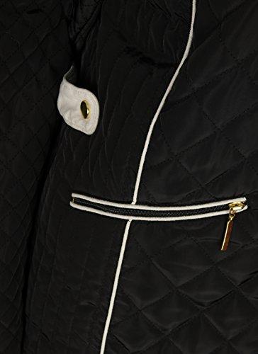 Collection Noir Jbc Femme Blouson Damassée Veste 4TdZ6