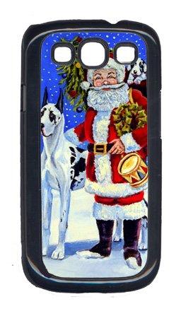 Santa Harlequin (Carolines Treasures 7083GALAXYSIII Harlequin Great Dane With Santa Claus Galaxy S111 Cell Phone Cover)
