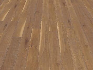 Pavimento in legno Rovere affumicato segato spazzolato decapato ...