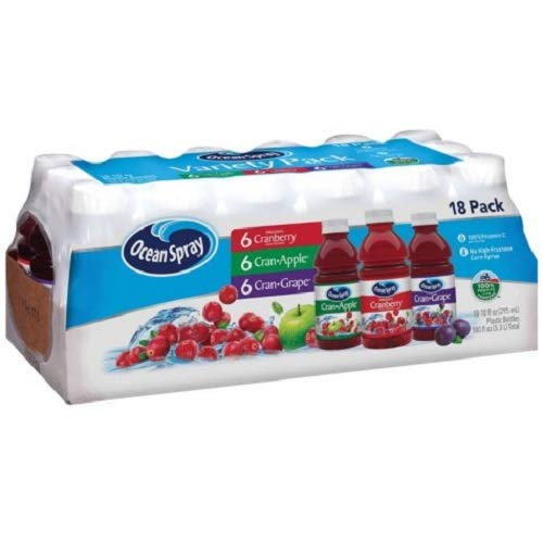 Ocean Spray Variety 18 Pk (Natural Juice)