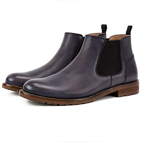 in in Scamosciata Scamosciata Scamosciata Inverno Boots Sicurezza Formale Brogue Pelle Stivali Autunno Classic Chelsea Gray Uomo Nera Pelle OxafPPq
