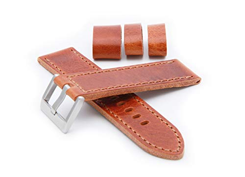 HELM Watches LS2 Leather Watch Strap - Whiskey (22mm)