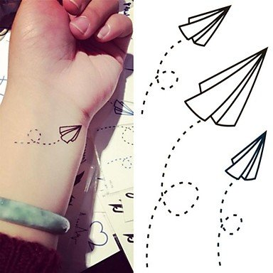 Generic Paper Airplanes Paper Plane Tattoo Stickers Temporary