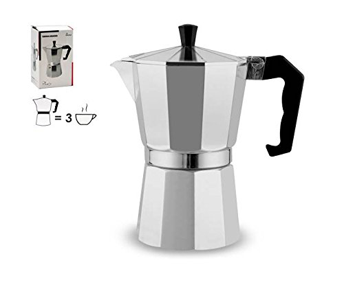 takestop Cafetera aluminio Cafetera 3 Tazas Taza Espresso ...