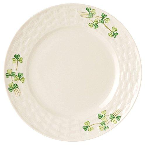 Irish Shamrock Plate - Irish Belleek Personalized Side Plate with Shamrock Design