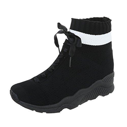 Sneakers Ital Piatto Nero Scarpe design Sneaker Donna High Da zzfwxY