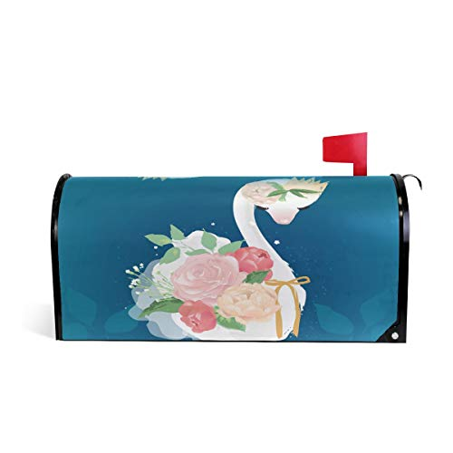 WOOR White Swan Magnetic Mailbox Cover Oversized-20.8