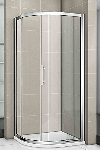 Exceptionnel Aica New Quadrant Walk In Shower Enclosure Tray, Metal, Chrome Frames/Clear  Glass/White, 900 X 900 Mm: Amazon.co.uk: Kitchen U0026 Home