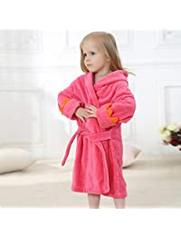 Children's Bathrobe, Cartoon Hooded Sanded Baby Cloak, Newborn Baby Bath Towel Pajamas