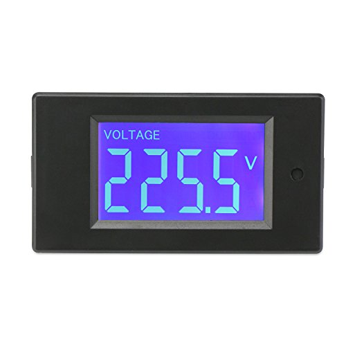 DROK AC Digital Multimeter Voltage Current Power Energy Detector Meter 80-260V 5A Ammeter 220V Voltmeter LCD Display Volt Amp Monitor Panel Gauge Mount by DROK