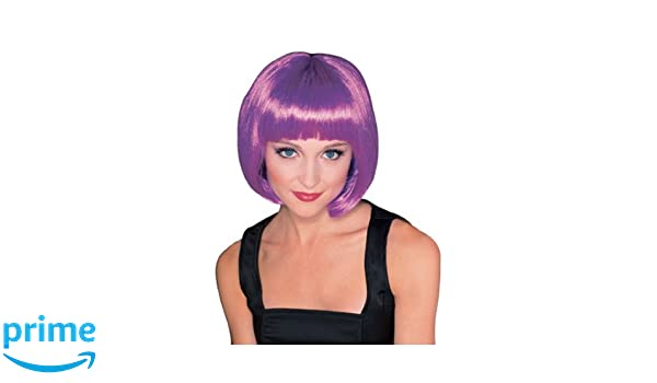 Supermodel Adult Fancy Dress Wig - Purple (peluca): Amazon.es: Juguetes y juegos