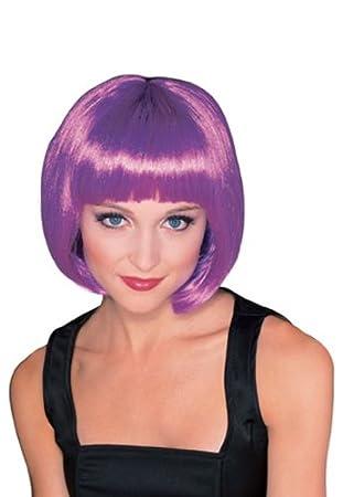 Supermodel Adult Fancy Dress Wig - Purple (peluca)