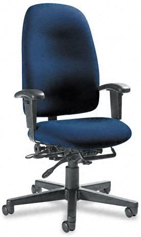 Global Granada Series High-Back Multi-Tilter Chair, Navy Blue Fabric