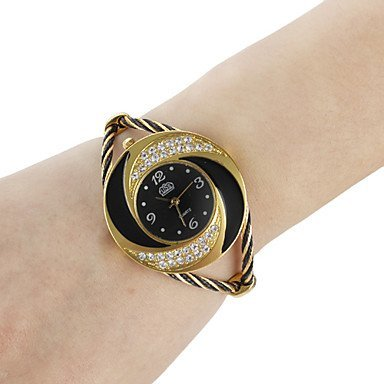 Yodee! Women's Whirlwind Circle Style Gold Alloy Quartz Analog Bracelet Watch (Assorted Colors)? 39% Off Style Alloy Analog