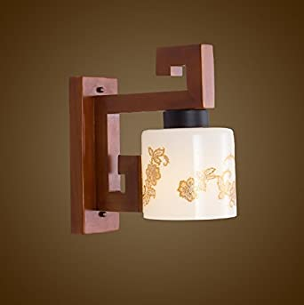 YYF Wandlampe Kreativ Holz Wandlampe Wohnzimmer Flur Wandleuchten