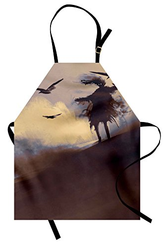 Mother Daughter Horror Costumes Ideas - Ambesonne Horror Apron, Dark Soul from