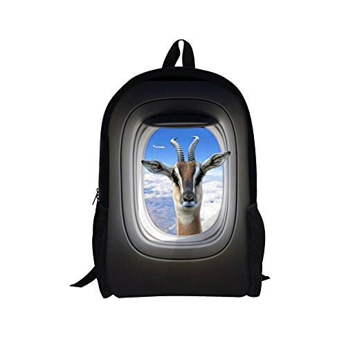 Indian Contemporary Dance Costume Ideas (TOREEP Funny Creative Giraffe Cow Printed Animal Backpack Durable Bookbag(Big))