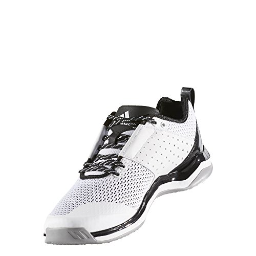 (adidas Speed Trainer 3 (2E Wide) Shoe 14 White-Metallic Silver-Black)