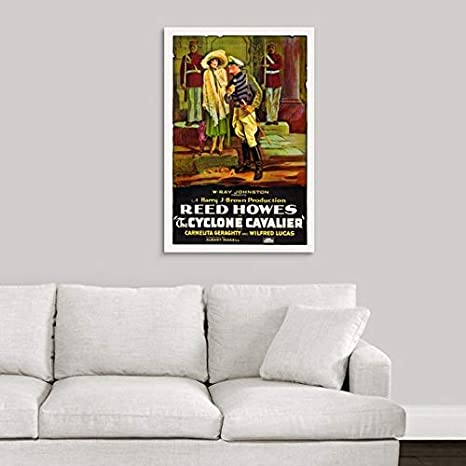 Amazon.com: Canvas on Demand Premium Thick-Wrap Canvas Wall Art Print Entitled Cyclone Cavalier - Vintage Movie Poster 16