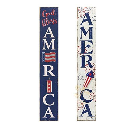 GIL 2388890 S/2 47InH Patriotic Wall Decor Spring 8InL x 0.75InW x 47.25InH Multicolor