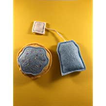 Macy's Toy Shop: Tea and Cookie-Shaped Catnip Toy - Blue