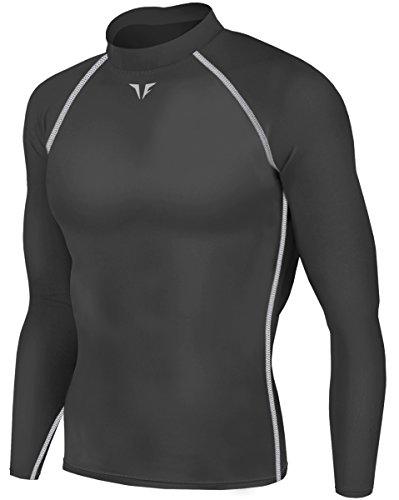 JustOneStyle - Playera térmica de Invierno para Hombre, Camisas cálidas, Medias de compresión, Capa Superior, TK221 Deep...