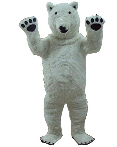 Polar Bear Mascot (Polar Bear Adult Mascot Costume Adult Size Halloween Fancy Dress Suit)