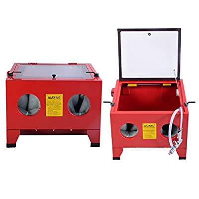 (US STOCK)25 Gallon Sandblast Cabinet Bench Top Air Sand Blaster Sandblast