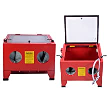 (US STOCK)25 Gallon Sandblast Cabinet Bench Top Air Sand Blaster Sandblast