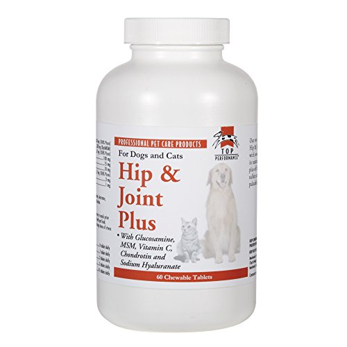 Top Performance  Hip & Joint Plus Tablets — Tasty Extra-Strength Dietary Supplements that Promote Healthy Hip and Joint Function in Dogs, 60-Tablet Bottle -
