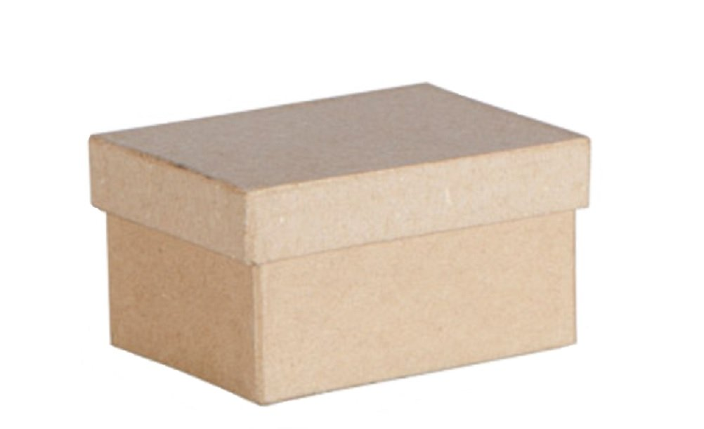 BULK BUY 2 Inch Mini Rectangles Paper Mache Boxes with Lids 3 Dozen --36 Boxes by Darice