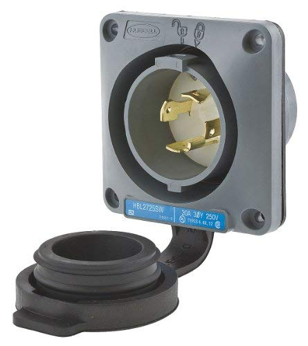 Wtertght Flanged Lcking Inlet, Industrial by Hubbell Wiring Device-Kellems