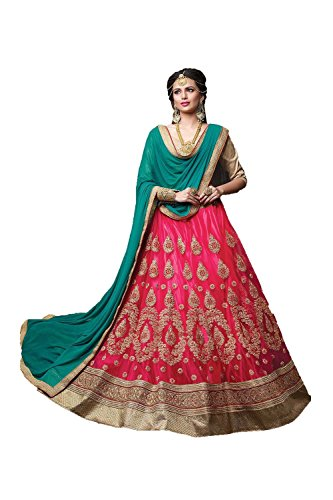 Da Facioun Indian Women Designer Wedding Pink Lehenga Choli Fabz-2076