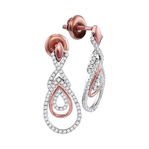 0.40 Carat Total Weight Diamond Dangle Earrings