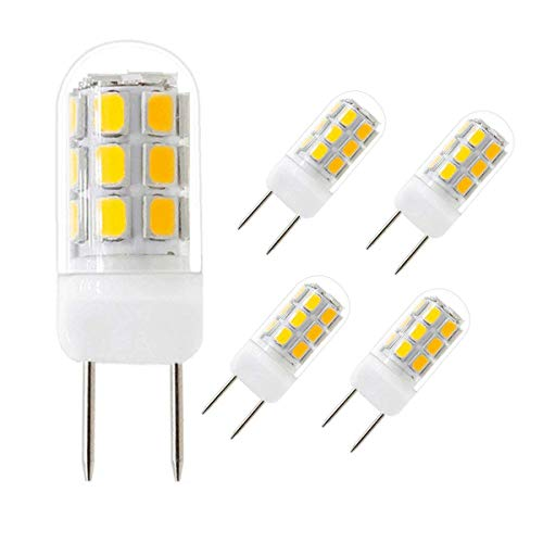 (LED G8 Bulb, 3W G8 LED Light Bulb Bi-Pin Base, Warm White 3000K, AC 110V-130V 30-35W Halogen Bulb Equivalent (5 Pack,Warm White 3000K) )