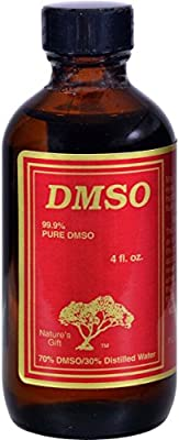 DMSO Liquid 70% DMSO / 30 % Water -- 4 fl oz, Unscented in a Glass Container