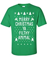 Jacted Up Tees Adult Merry Christmas YA Filthy Animal Men's T-Shirt