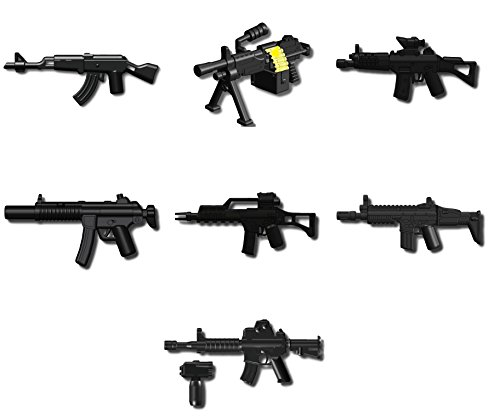 Custom Modern Warfare Weapons Pack Designed for LEGO® Minifigures