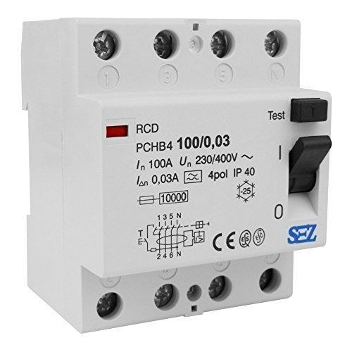 SEZ Fi-Schalter 100A 30mA 4p 10kA RCD 230V/400V ...