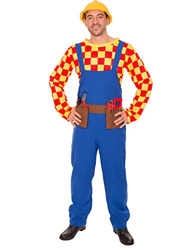 Mens Bill The Builder Bob Construction TV Halloween
