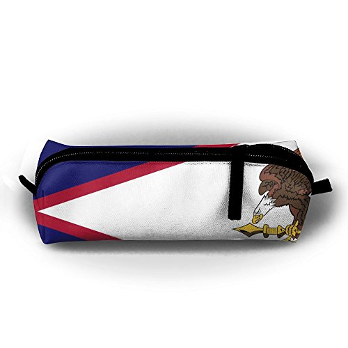 Huitong Shengshi HTSS American Samoa's Flag Pencil-box Pouch Pencil Holders Pencil Pen Casewith Zipper Stationery Bag Sewing Kit