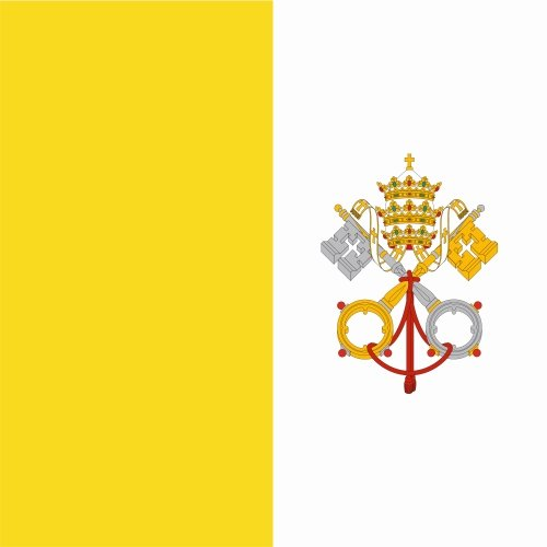 carsticker flag decal sticker colors in two sizes Vatican City laminated very long durable