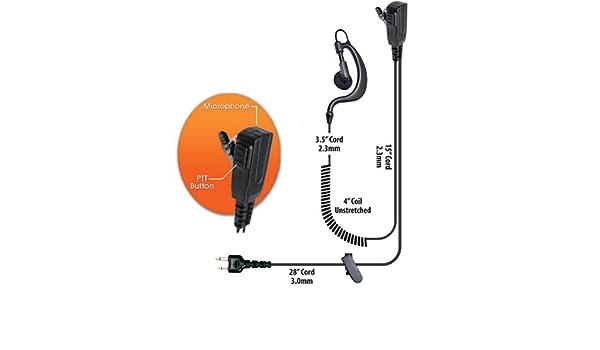maxon microphone wiring diagram amazon com klein bodyguard split wire earpiece icom maxon  klein bodyguard split wire earpiece