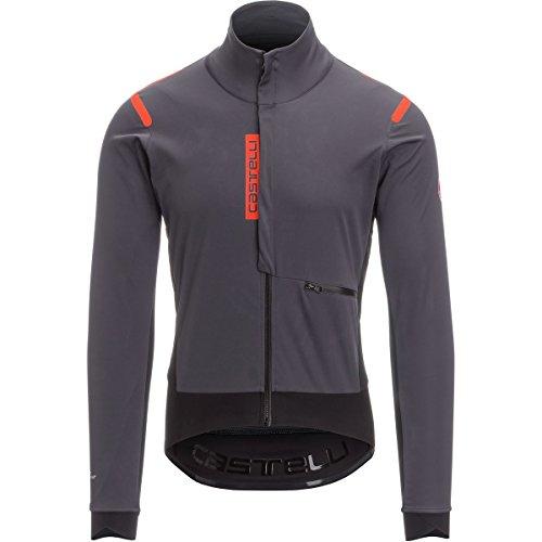 Castelli Alpha ROS Jacket- Limited Edition - Men's Anthracite/Black, L (Warmer Arm Windstopper)