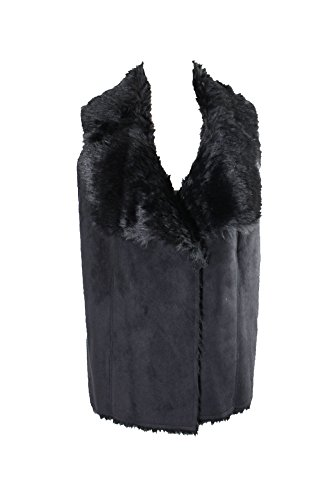 Charter Club Womens Plus Faux Suede Open Front Casual Vest Black 2X by Charter Club